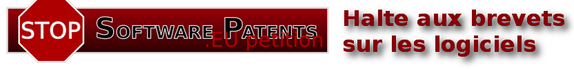 stopsoftwarepatents.eu petition banner